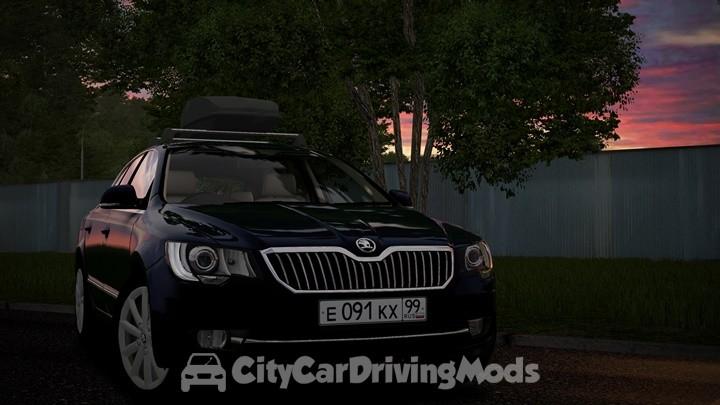 Skoda Superb 2017 For City Car Driving Simulator